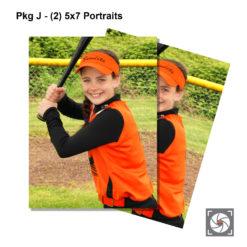 Pkg J - (2) 5x7 portraits