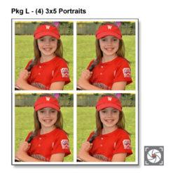 Pkg L - (4) 3x5 portraits
